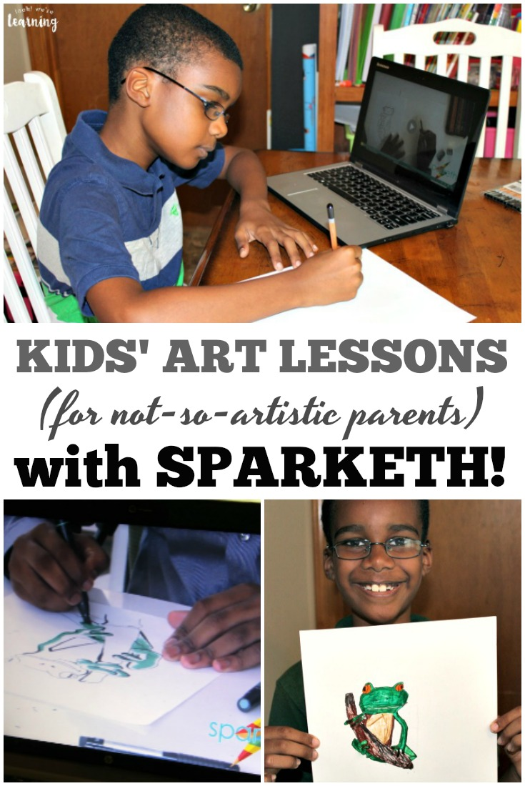 Worried about how to teach art when you're not really artistic? Sparketh is a wonderful and easy art program for kids!