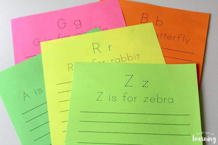 Alphabet Animal Notebooking Printables