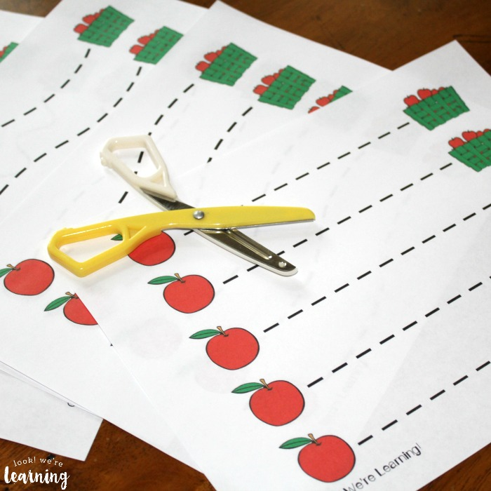 Apple Scissor Skills Worksheets