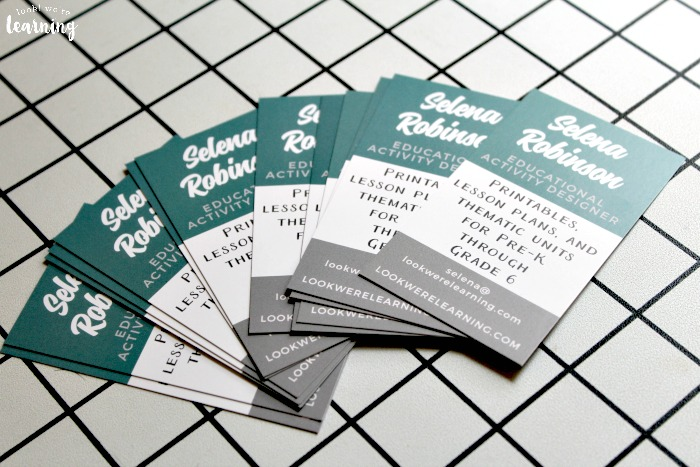 Business Cards for a First Blogging Conference
