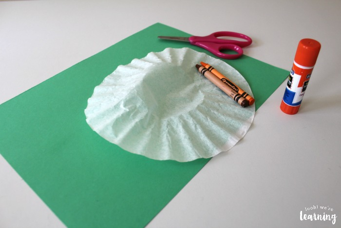 Coffee Filter Pumpkin Craft Project