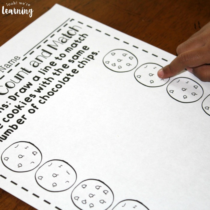 Cookie Counting Worksheets for PreK