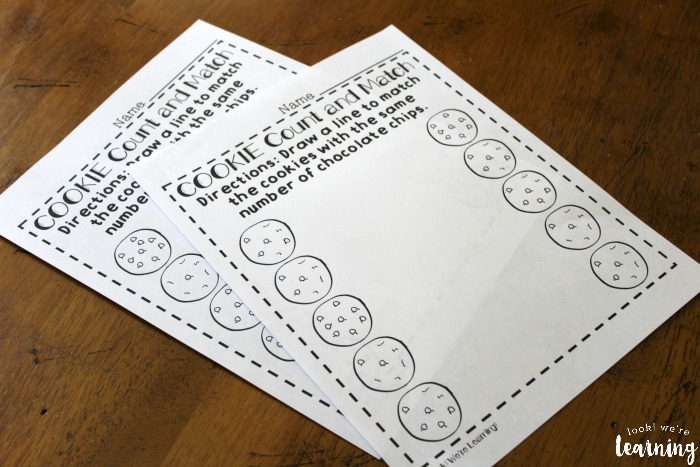 Cookie Themed Counting Worksheets
