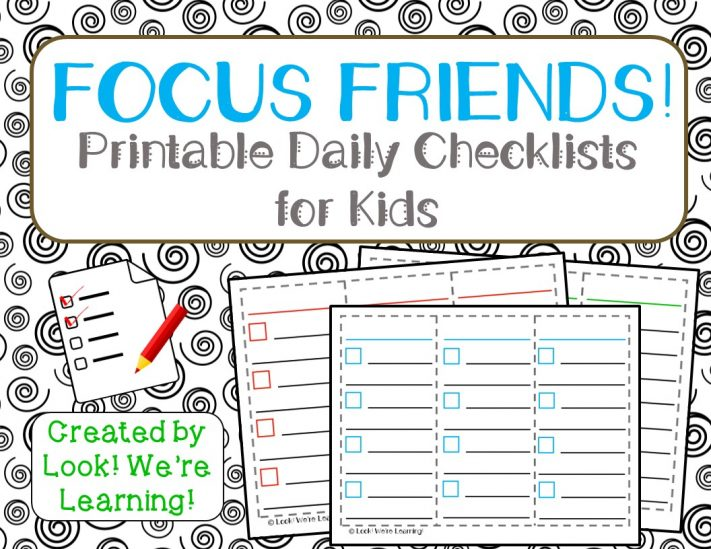 Daily Checklist for ADHD Kids