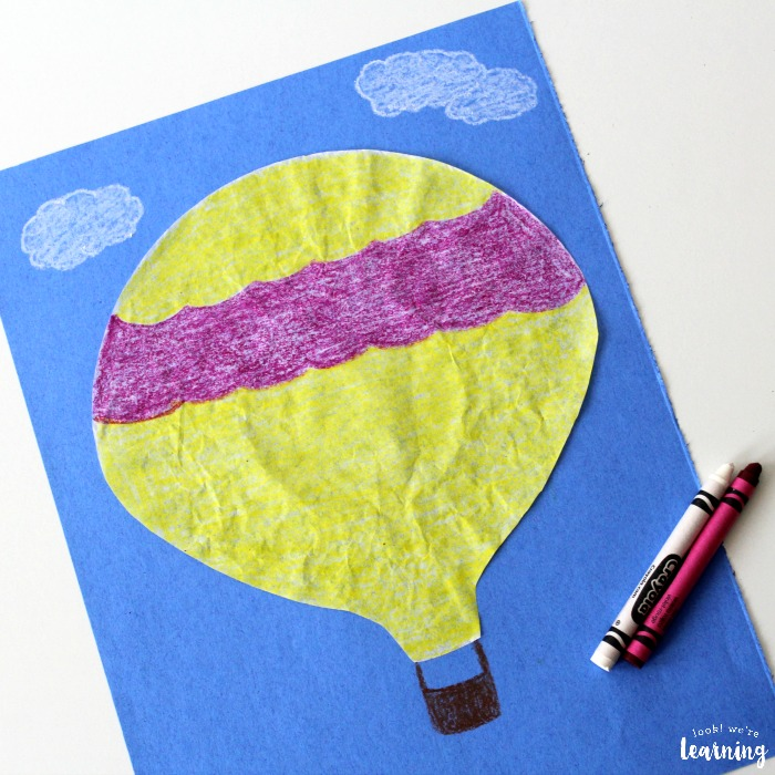 Easy Coffee Filter Hot Air Balloon Craft