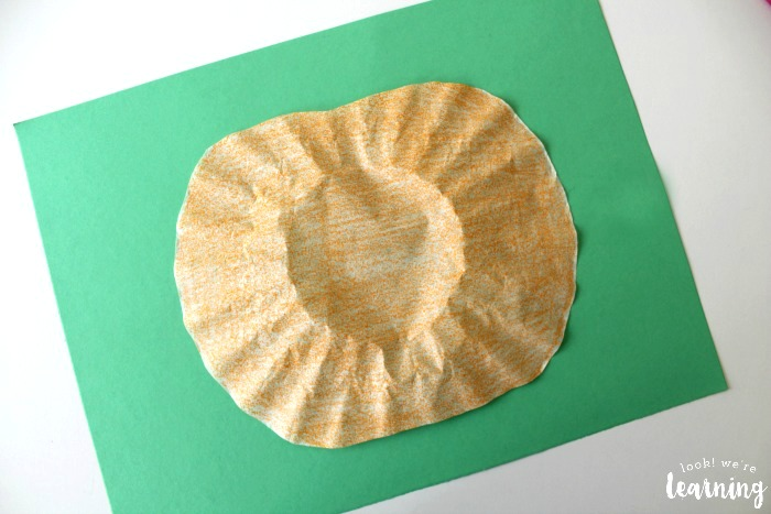 Easy Coffee Filter Pumpkin Craft