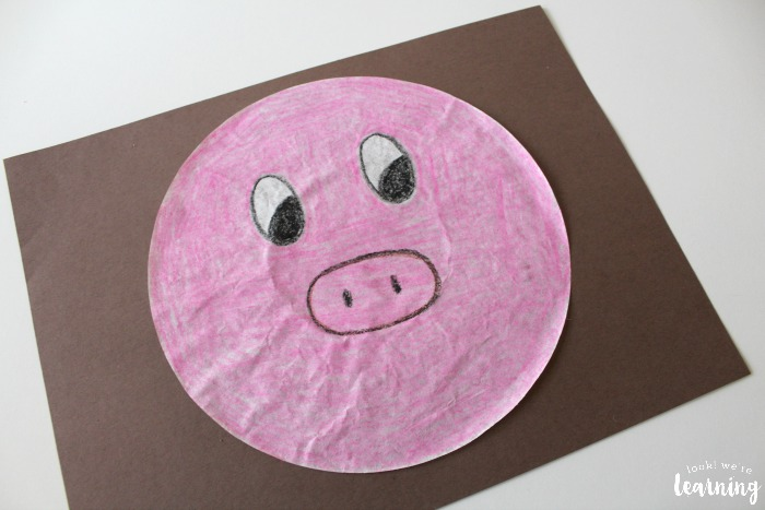 Easy Pig Coffee Filter Craft