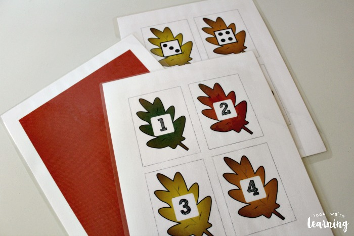 Fall Leaf Concentration Game for Preschool
