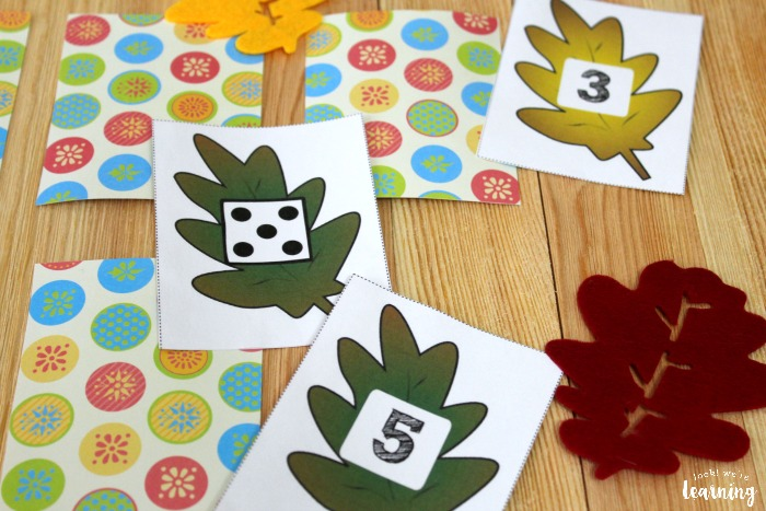 Fall Leaf Counting Concentration Game