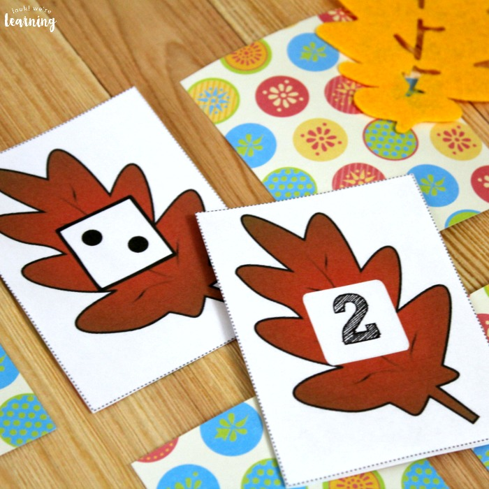 Fall Leaf Preschool Concentration Game
