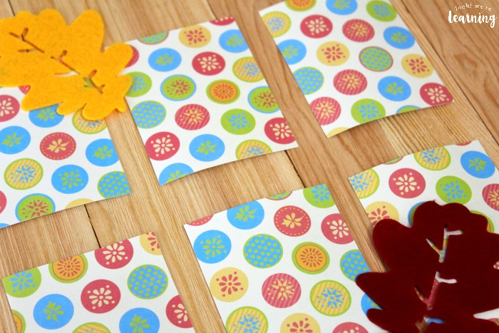 Fall Themed Preschool Concentration Game