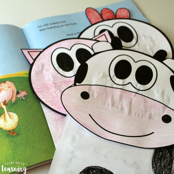 Farm Animal Paper Bag Puppets