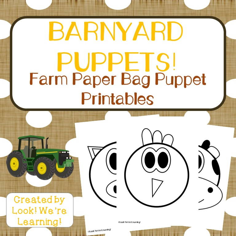Farm Paper Bag Puppets