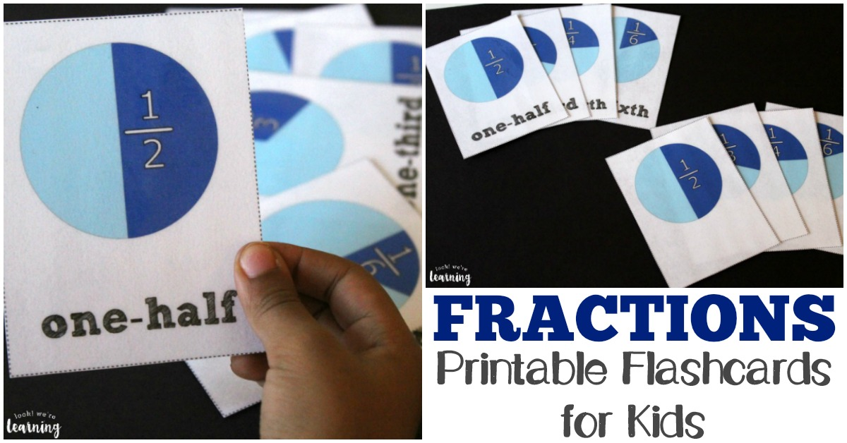 Fraction Cards for Kids