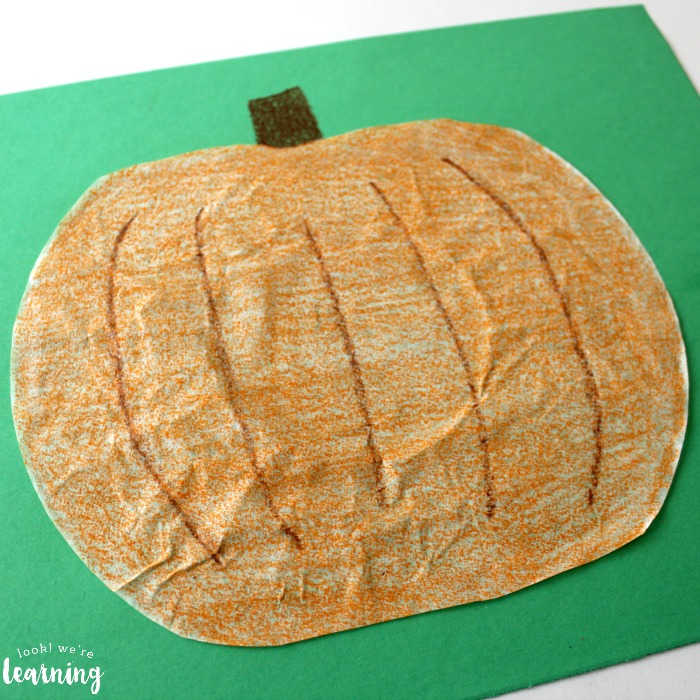 Fun Coffee Filter Pumpkin Craft for Kids