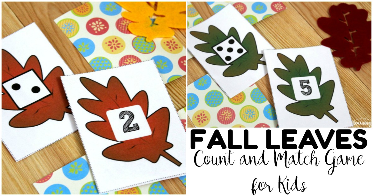 Fun Fall Leaf Preschool Concentration Game