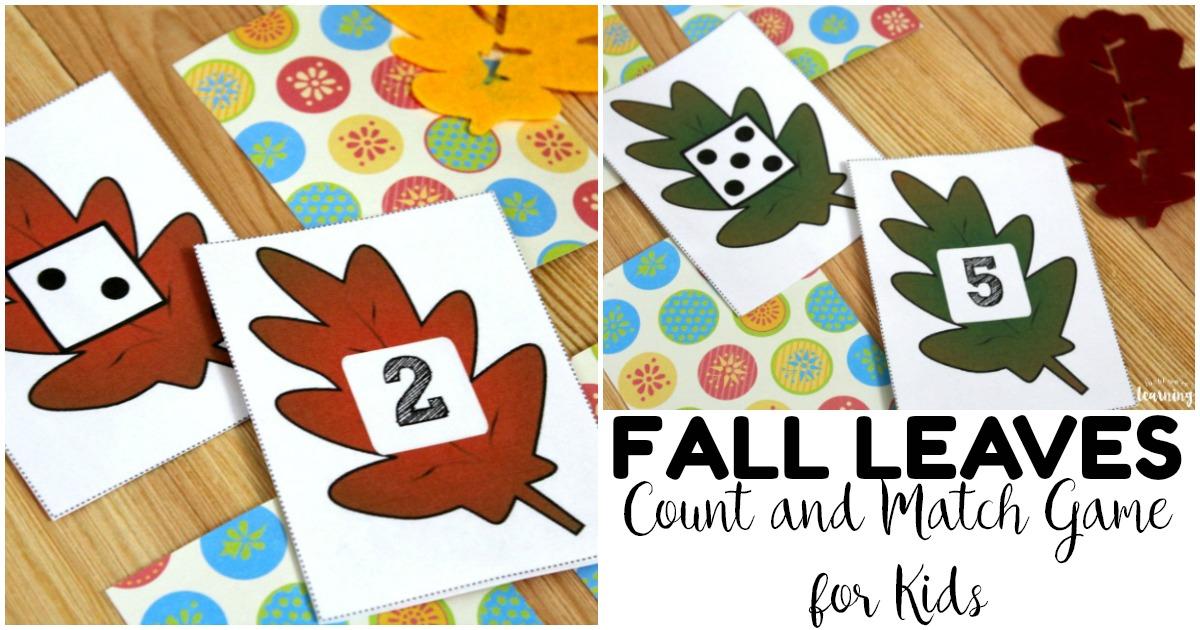 Fun Fall Leaf Preschool Concentration Game