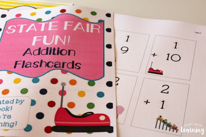 Homeschool Printing Service - Amusement Park Addition Flashcards