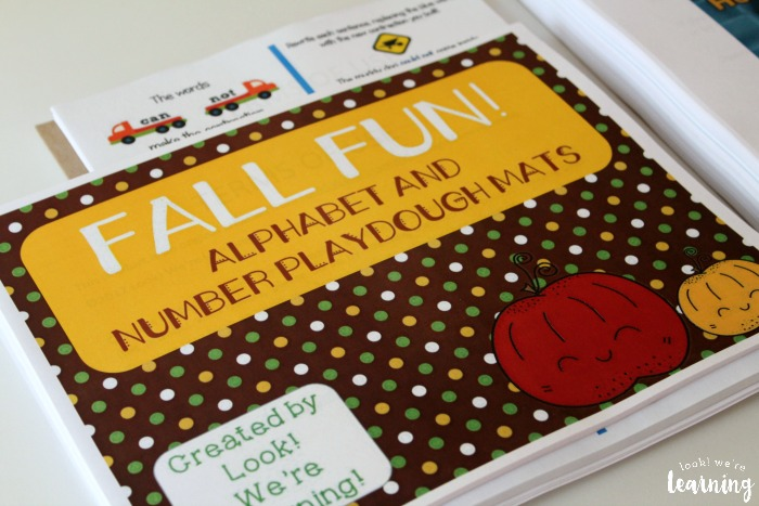 Homeschool Printing Service - Fall Alphabet Playdough Mats