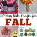 Looking for easy fall crafts for kids? There are plenty of fall art projects to choose from here!