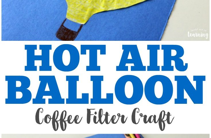 Coffee Filter Crafts for Kids: Coffee Filter Hot Air Balloon Craft