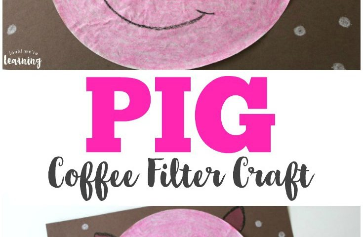 Coffee Filter Crafts for Kids: Coffee Filter Pig Craft
