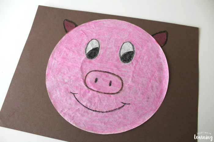 Making a Coffee Filter Pig Craft