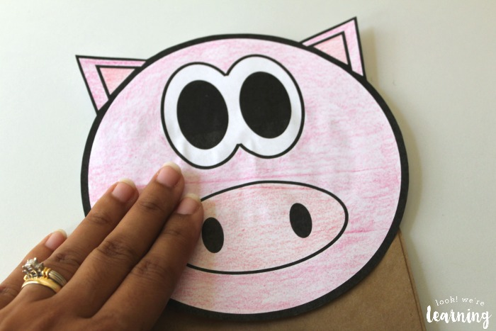 Making a Pig Paper Bag Puppet