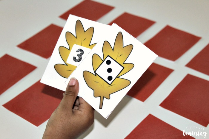 Math Fall Concentration Game for PreK