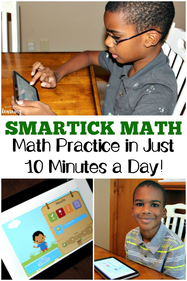 Need to help your active learner practice math? Smartick Math lets kids get math enrichment in just 10 minutes a day!