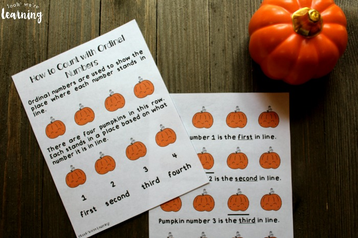 Ordinal Number Lesson for Kids