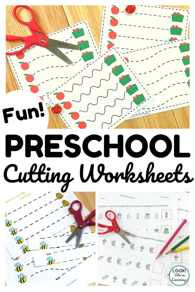 Pick up some of these fun preschool scissor skills worksheets featuring themes for the entire year!