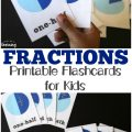 Pick up these printable fraction flashcards to get some easy math practice with the kids!