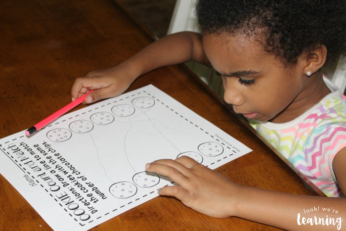 Preschool Cookie Counting Worksheets