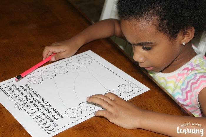 Preschool Cookie Counting Worksheets