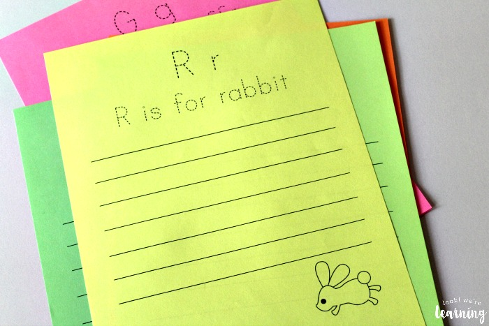 Printable Alphabet Animal Notebooking Pages