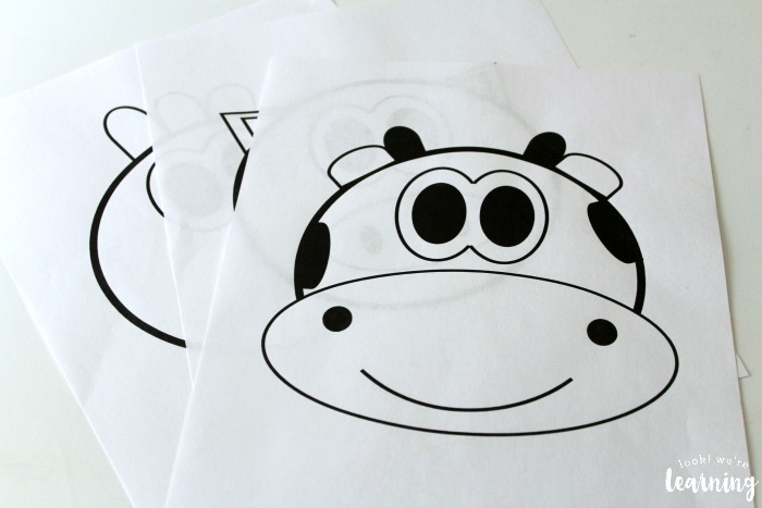 Printable Farm Puppet Faces