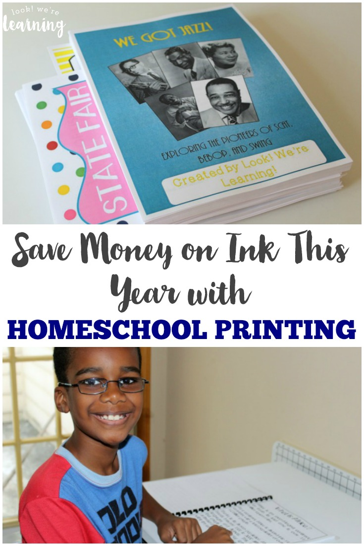 Tired of spending tons on printer ink? Learn how to use a homeschool printing service to save money on ink this school year! {ad}