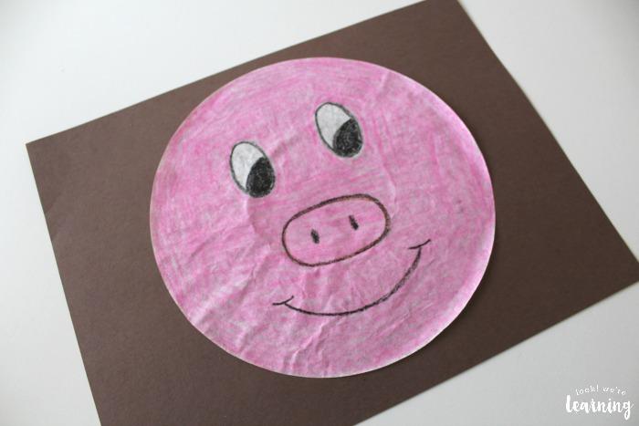 Simple Coffee Filter Pig Craft