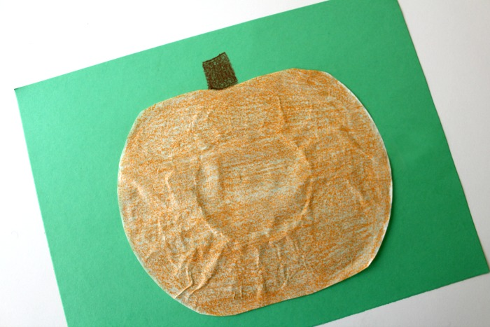 Simple Coffee Filter Pumpkin Craft