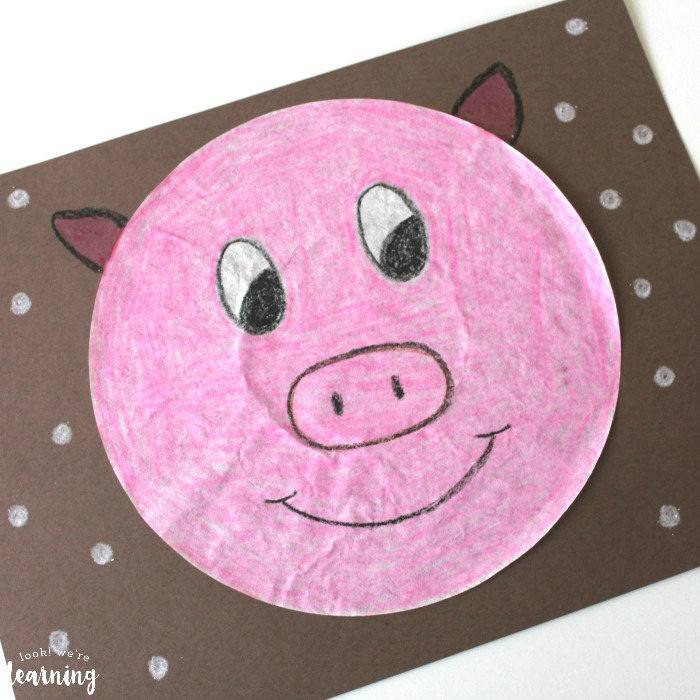 Simple Pig Coffee Filter Craft