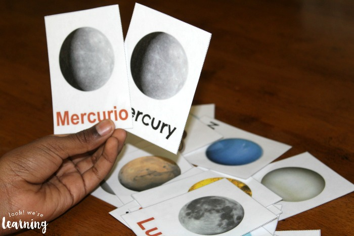 Solar System Spanish Flashcards