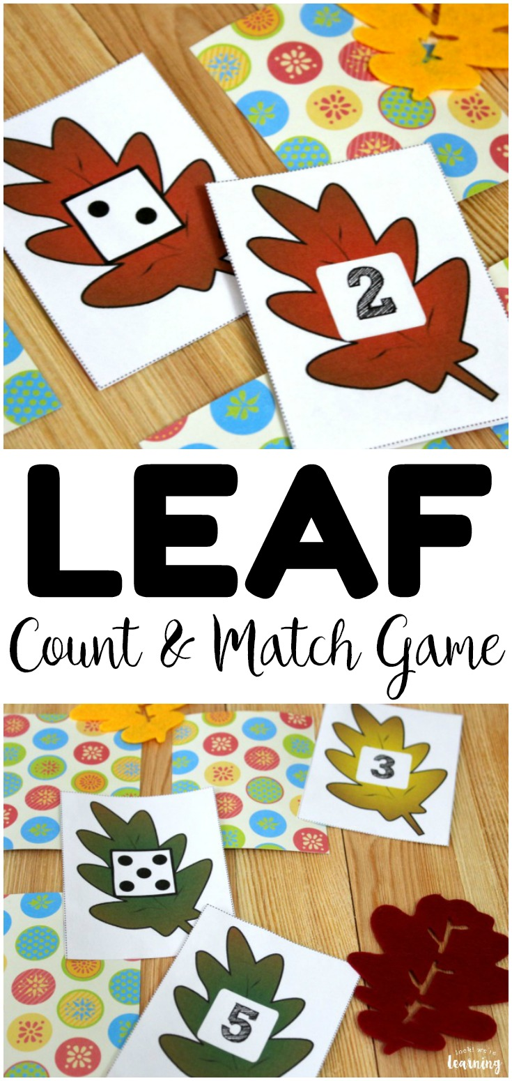 This fun and simple preschool concentration game helps early learners practice number recognition and counting practice with a fall theme! Perfect for fall math centers!