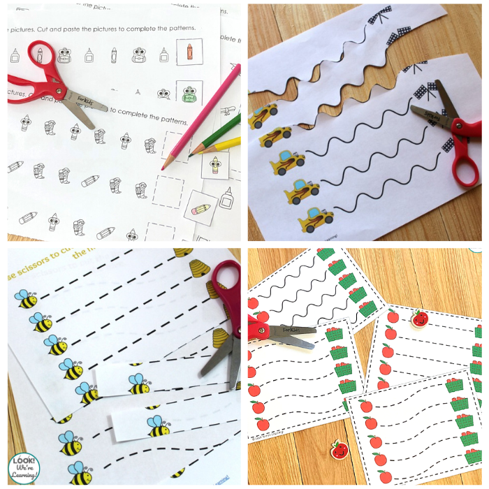 Themed Preschool Scissor Skills Worksheets for Kids