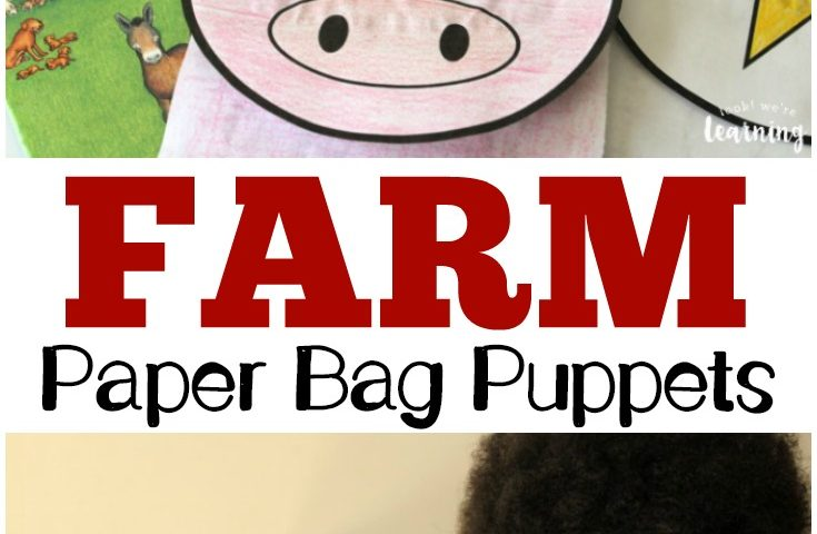 Super Cute Printable Farm Paper Bag Puppets