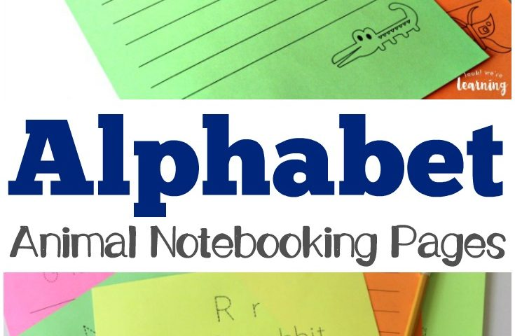 Free Alphabet Animal Notebooking Pages