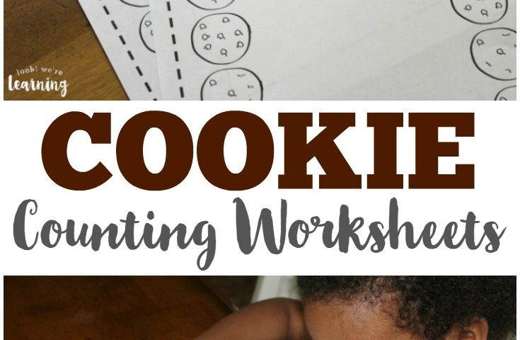 Cookie Counting Worksheets for Preschool