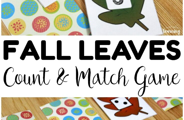 Fall Leaves Count and Match: Preschool Concentration Game for Kids