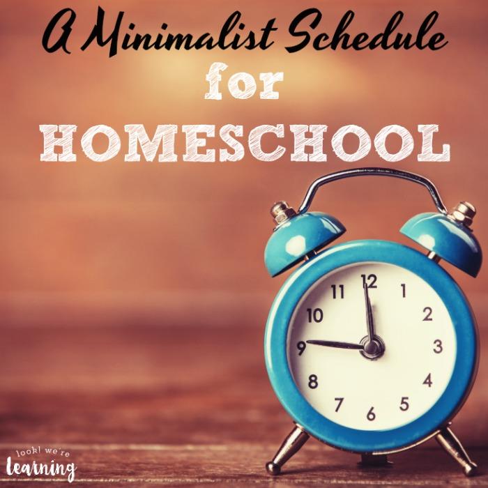 A Minimalist Homeschool Schedule