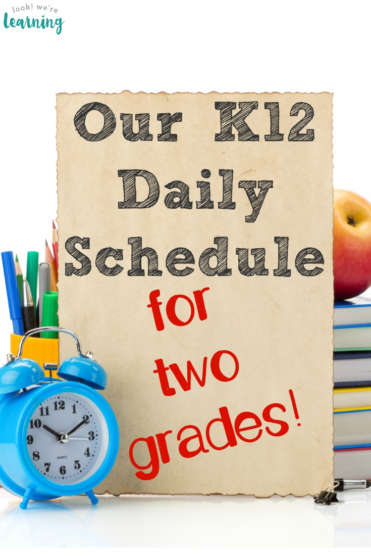 Are you considering K12 for your kids? Here's a look at our K12 daily schedule for two grades!